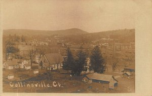 Collinsville CT Aerial View Photo by H. P. Foote Real Photo Postcard