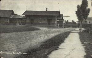 Greensboro Bend VT RR Train Station Depot c1910 Postcard