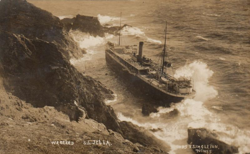 RP: BOLT TAIL , Hope Cove, S. DEVON , England , 1907 ; S.S. JEBBA Shipwreck #2