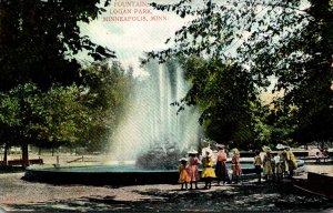 Minnesota Minneapolis Logan Park The Fountain
