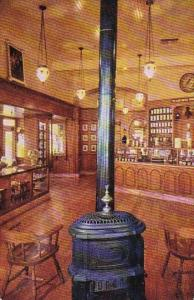 Pot Bellied Stove And Hanging Chandeliers Set The Mood Of Upjohn Company's Ol...