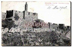 Israel - Jerusalem - Zion Citadel - Citadel of Zion - Old Postcard