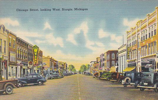Michigan Sturgis Cicago Street Looking West