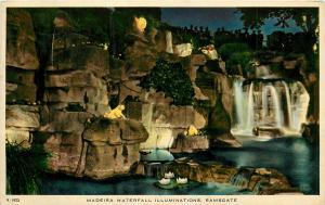 Madiera Waterfall Kent Ramsgate England United Kingdom UK pm 1954 Postcard