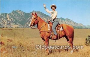 Western Cow Girl Photo Courtesy Colorado Dept Pub Relations Postcard Post Car...