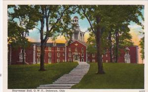 Ohio Delaware Stuyvesant Hall Ohio Wesleyan University Curteich
