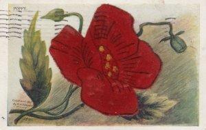 Silk POPPY Flower , 00-10s