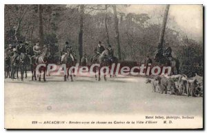 Old Postcard Arcachon LRendez You Hunting Of The City