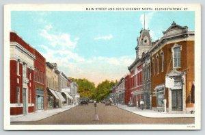 Elizabethtown Kentucky~Main Street & Dixie Highway~Drug Store~Chevrolet~1920s