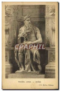 Old Postcard Michelangelo's Moses