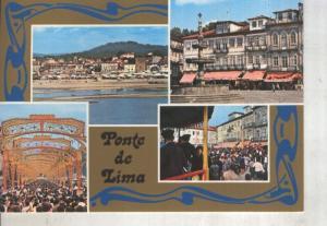 Postal 014173: Vistas varias de Ponte de Lima, Portugal