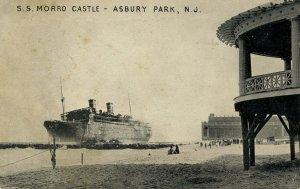 NJ - Asbury Park. September 8, 1934. Wreck of the SS Morro Castle