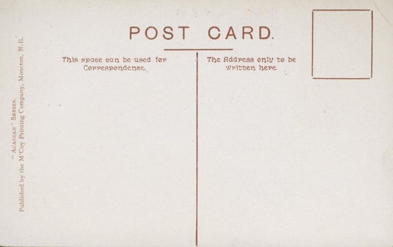 Looking North Shelburne NS Nova Scotia Acadian Series M'Coy Vintage Postcard
