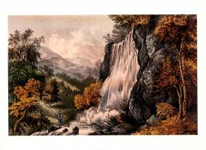 Currier & Ives (Repro) - Valley Falls, Virginia -  Size: 6.625 X 4.625