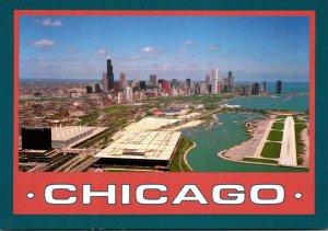 Illinois Chicago Aerial View