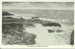 Wells Beach, Me., The Bold Rocks
