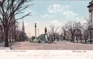 View On Gran Avenue Milwakee Wisconsin 1907