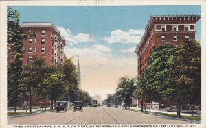 Kentucky Louisville Third Street and Broadway Y M C A On Right Weissenger-Gau...