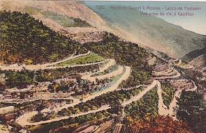 Route de Sospel a MENTON, Alpes Maritimes, France, Lacets de Fontanin, Vue pr...
