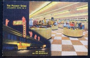 Mint USA picture Postcard Advertising Planters Peanut Stores Atlantic City NJ