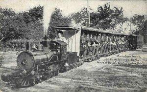 Eden Springs HOUSE OF DAVID Benton Harbor Miniature Railroad Vintage Postcard