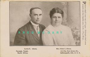 1906 Fayoum Egypt PC: Missionaries Rev. & Mrs. Lewis Glenn