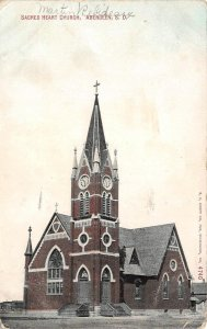 SACRED HEART CHURCH Aberdeen, South Dakota Vintage Postcard 1909