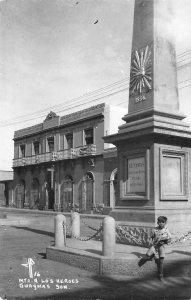 RPPC Monumento a Los Heroes, Guaymas, Son., Mexico Vintage Photo Postcard