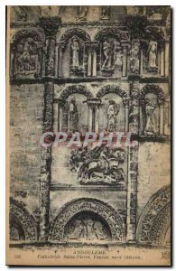 Postcard Old Angouleme Cathedrale Saint Pierre Facade North details