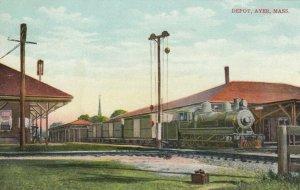 AYER , Massachusetts, 1900-10s , Train at Railroad Depot
