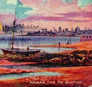 Vtg Carte Postale 1910s Havana Cuba depuis La Carrières non Utilisé Unp