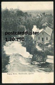 dc185 - SHERBROOKE Quebec Postcard 1900s Magog River