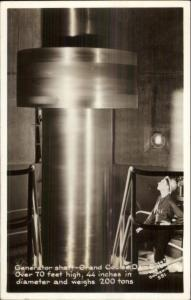 Grand Coulee Dam Generator Shaft 200 Tons Real Photo Postcard