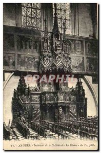 Old Postcard Angers Interior of The Cathedral The Pulpit