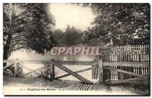 Old Postcard Enghien Les Bains Lake Princess Mathilde