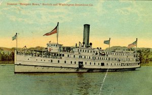 Norfolk & Washington Steamboat Co. - SS Newport News   (crease)
