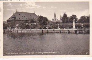 Germany Konstanz Konziliumgebaeude Muenster & Zeppelindenkmal 1945 Photo