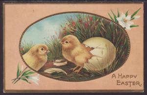 A Happy Easter,Chicks Postcard