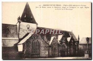 Old Postcard Rochefort en Terre Church
