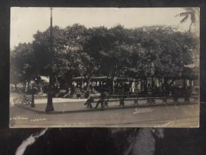 1920s Veracruz Mexico Picture Postcard Cover Guns Square To Oxford England