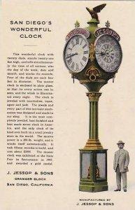 J Jessop & Sons San Diego's Wonderful Clock California