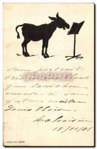 Old Postcard Donkey Mule