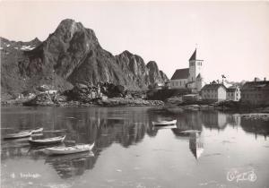 SVOLVAER NORDLAND NORWAY NORGE POSTCARD 1950s