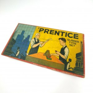 Vintage Prentice Toy Rubber Type Set Superior #4000 by SME Co. in Original Box