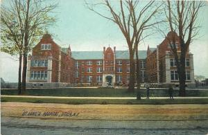 Utica New York~St Lukes Hospital~1910 Rotograph Postcard