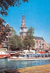 Netherlands Amsterdam Zuidertoren Bateaux River Boats