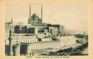 Egypt Cairo Citadel showing the Tombs of Khalifs Postcard
