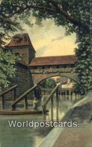 Nurnberg Germany, Deutschland Postcard Pegnitz Einfluss mit Agnesburcke  Pegn...