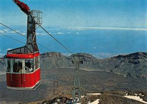 Spain Teide Teleferico Cableway Panorama Postcard