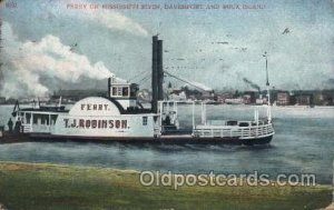 Mississippi River, USA Ferry, Ship 1910 some corner and edge wear, postal mar...